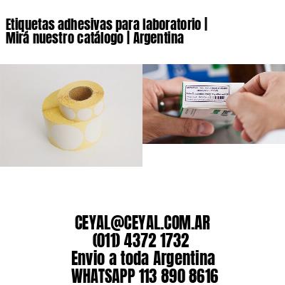 Etiquetas adhesivas para laboratorio   Mirá nuestro catálogo   Argentina