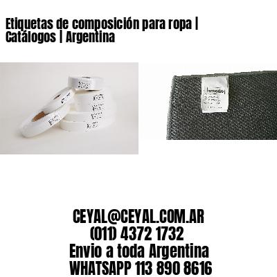 Etiquetas de composición para ropa   Catálogos   Argentina