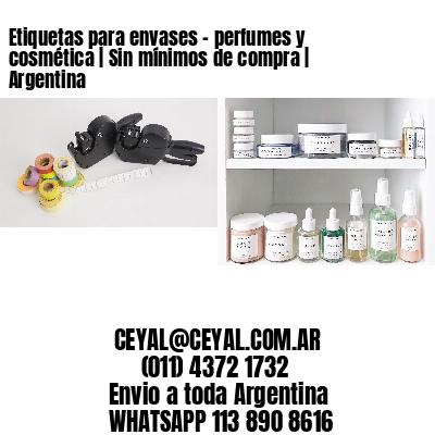 Etiquetas para envases - perfumes y cosmética   Sin mínimos de compra   Argentina