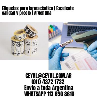 Etiquetas para farmacéutica   Excelente calidad y precio   Argentina