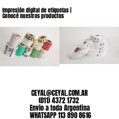 Impresión digital de etiquetas | Conocé nuestros productos