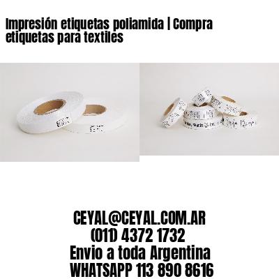 Impresión etiquetas poliamida | Compra etiquetas para textiles