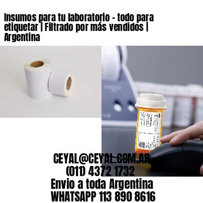 Insumos para tu laboratorio - todo para etiquetar   Filtrado por más vendidos   Argentina