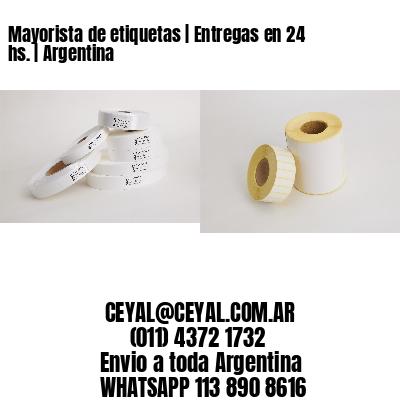 Mayorista de etiquetas   Entregas en 24 hs.   Argentina