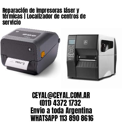 Reparación de impresoras láser y térmicas | Localizador de centros de servicio
