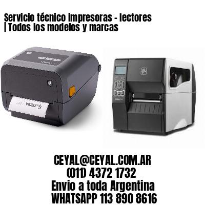 Servicio técnico impresoras - lectores | Todos los modelos y marcas