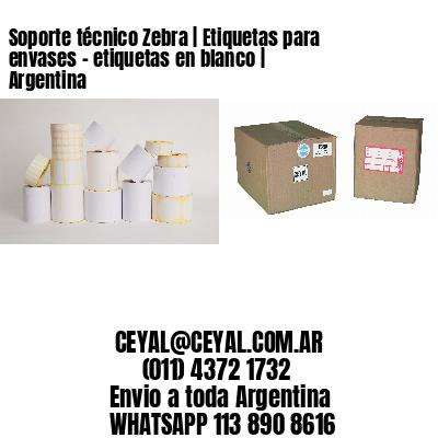 Soporte técnico Zebra | Etiquetas para envases - etiquetas en blanco | Argentina