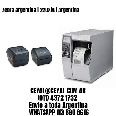 Zebra argentina   220Xi4   Argentina
