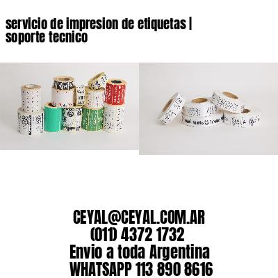 servicio de impresion de etiquetas | soporte tecnico